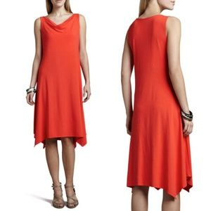 Eileen Fisher Red Cowl Neck Firefly Dress (M)